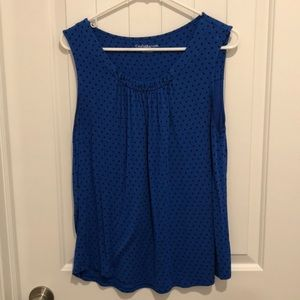 Croft & Barrow blue sleeveless top Large